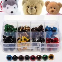 New DIY Chicest 80Pcs/40Pairs 8 Color-Mix 10mm Safety Eyes Box for Teddy Bear Stuffed Toy Snap Animal Puppet Doll Craft