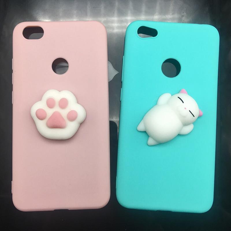 3d Squishy Cat Silicon TPU Soft Case For Xiaomi Redmi 5 plus 4X 4A 3S note 5 pro Candy Color Back Cover Redmi 5A prime 3 4 Cases (17)
