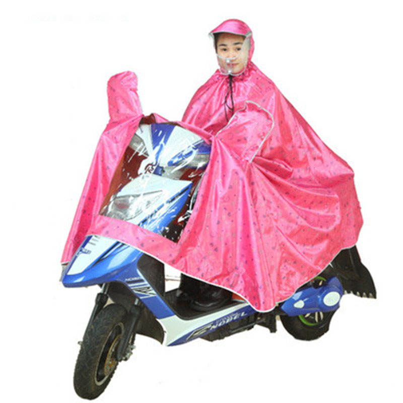 Rain Poncho Electric Cars Transparent Double Brim Single Motorcycle Raincoat Men Raincoat Women Outdoor Waterproof Rain Coat