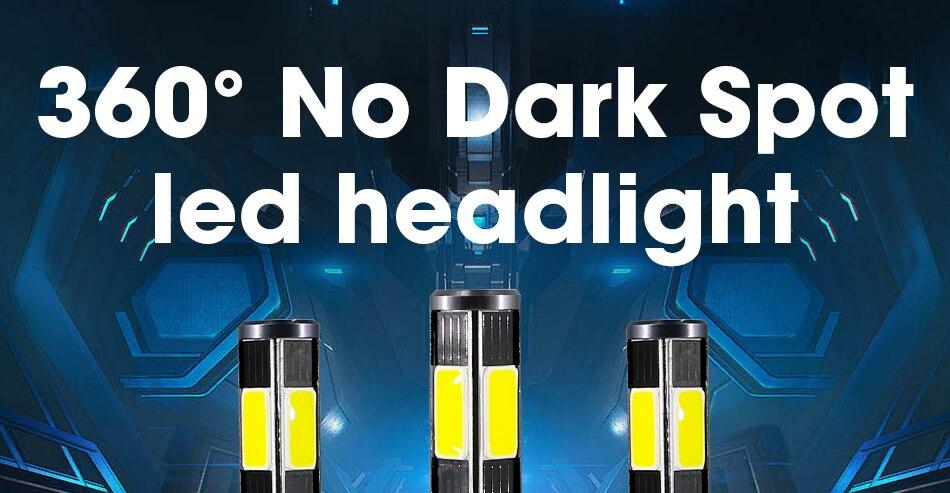 1 hlxg 4 Sides 12000LM H8 H11 Fog lights No Error Free h7 led canbus H4 Lamp HB3 9005 HB4 90W light bulbs for cars 24V 12V 6000K