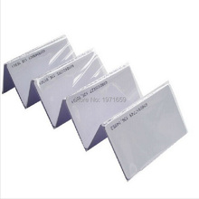 200pcs/box 125Khz White ID Inkjet printer PVC Card RFID Proximity smart Card With Serial Number(China)