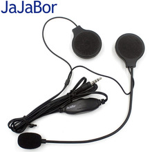 JaJaBor New Motorcycles Motorbike Helmet Headset Speakers Earphone Headphone with Microphone 3.5mm for MP3 MP4 GPS Mobile phone