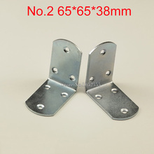 10pcs 65*38mm Iron Right Angle Corner Brackets Metal Shelf Support Repair Fixing furniture Connecting fittings K257