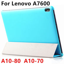 Buy Case PU Lenovo TAB A10-70 Protective Smart cover Leather Tablet PC Ideatab A10-80 A7600 10.1 inch Protector Sleeve Case for $10.59 in AliExpress store