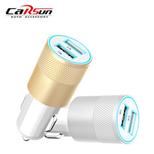 wholesale 50pcs/lot Alloy Universal Dual USB Car Charger For chevrolet cruze ford volkswagen toyota kia rio mazda bmw VW