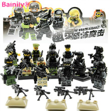 [Bainily]12pcs With Many Weapons World War Ghost Assault Military Soldier Compatible Legoe Weapon Model Building Block Bricks(China)