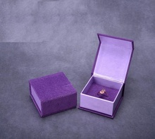 Classic Gift Box Case With Foam Pad Inside For Bangle Jewelry Ring Earrings Wrist Watch Jewelry Box Purple Simple Stylish(China)