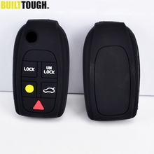 5 Button Silicone Remote Flip Key Cover Case Fit For Volvo C70 S40 V50 S60 S80 V70 XC70 XC90 Fob Shell Skin Protector
