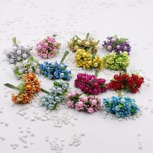 100pcs /lot Natural Style Stamens Artificial Flower Wedding Party Decorative Composite Material Plant Scrapbook(China)