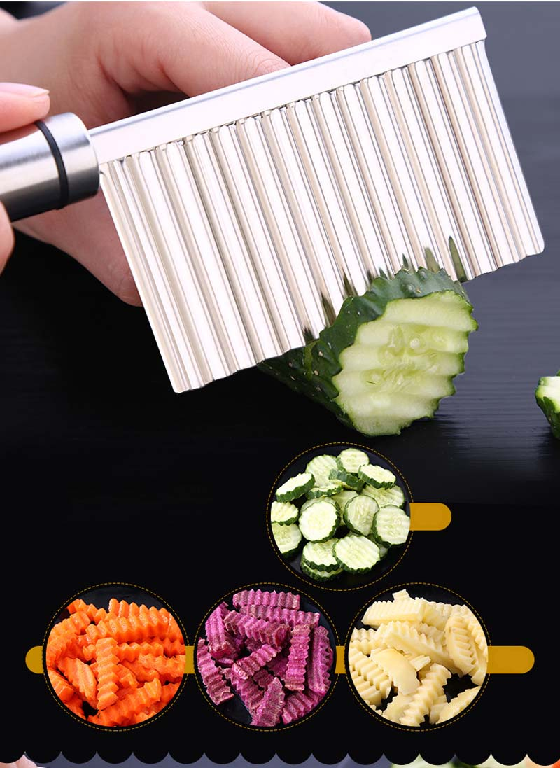 BalleenShiny Potato Slicer Cutter Knife Kitchen Gadgets Accessories Cooking Tools Stainless Steel Fruit Vegetable Chip Cut tool 11