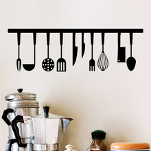 Buy % 3d vivid Kitchen Tools Restaurant wall stickers Decals Kitchen Decoration Home Decor DIY wall art paper mural Cooking utensils for $1.99 in AliExpress store