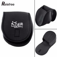 Relefree Black Portable Neoprene Spinning Reel Case Casting Reel Protective Fishing Bags(China)