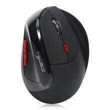 HXSJ X60 3D Mouse Rechargeable 2400DPI 6D 2.4G Wireless Ergonomic Optical Vertical Gaming Mouse For Desktop Laptop(China)