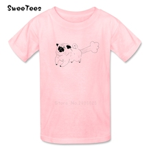 Funny Dog children's T Shirt Cotton Short Sleeve Crew Neck Tshirt Tee Shirt Boys Girls 2017 Customized T-shirt For Kids