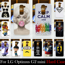 For LG Optimus G2 mini D618 G2mini D618 Hard Plastic Mobile Phone Cover Case DIY Color Paint Painting Cellphone Bag Shell