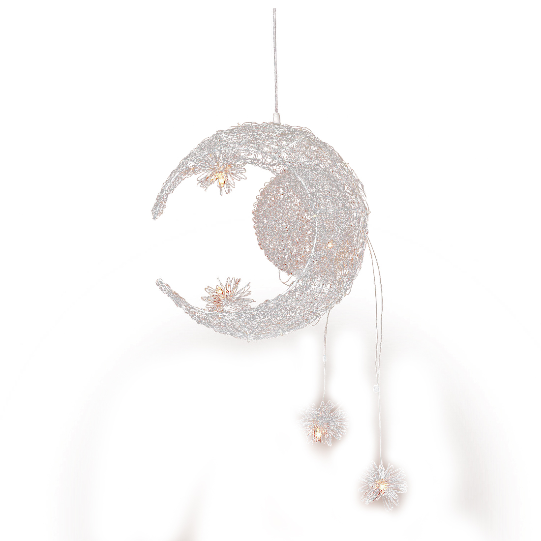 Moon &amp; Star Sweet Bedroom Lighting Pendant Lamp Chandelier Ceiling Light Fixture<br>