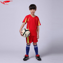 High quality survetement football 2017 kids soccer jerseys football sets soccer uniforms kits for boys short sleeves new(China)