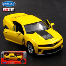 1pc 1:36 11.5cm delicacy WELLY Chevrolet ZL1 car pull back alloy model home collection decoration boy toy gift(China)