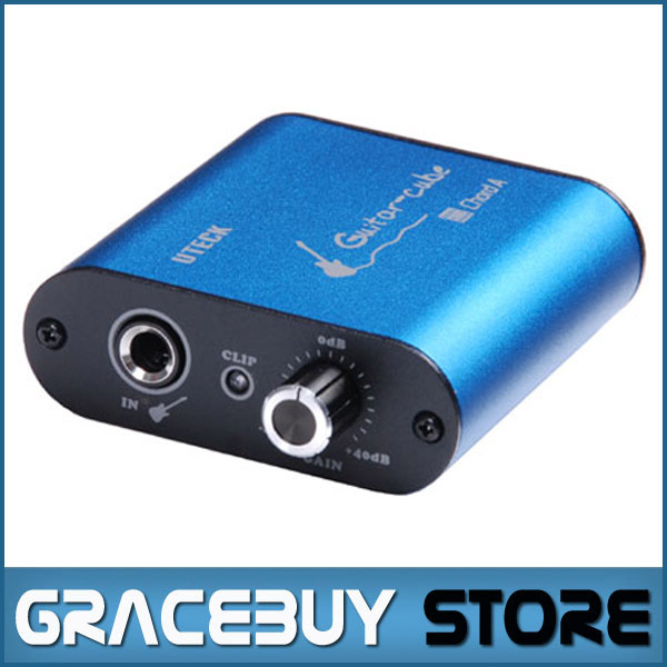 Uteck Guitar Cube ASIO Chord USB Audio Interface(DI) Fit For Soft(Guitar Rig JAMVOX AmpITube)<br>