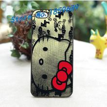 Hello Kitty fashion cover case for iphone 4 4S 5 5S 5C SE 6 6 plus 6s 6s plus 7 7 plus
