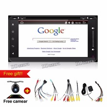Quad Core Android 6.0 Car Dvd Headunit Radio for Toyota Hilux Gps Navi Bluetooth Wifi 3g Obd Fm Am Radio Car Dvd Player(China)