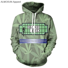 ALMOSUN Something You Do Everyday 3D All Over Printed Hoodies Pockets Sweatshirt Hipster Casual Street Wear Men Women US Size(China)