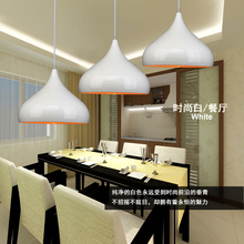 Fashion personality  white single head aluminum light dining room  bar counter E27 LED pendant light   85-265V