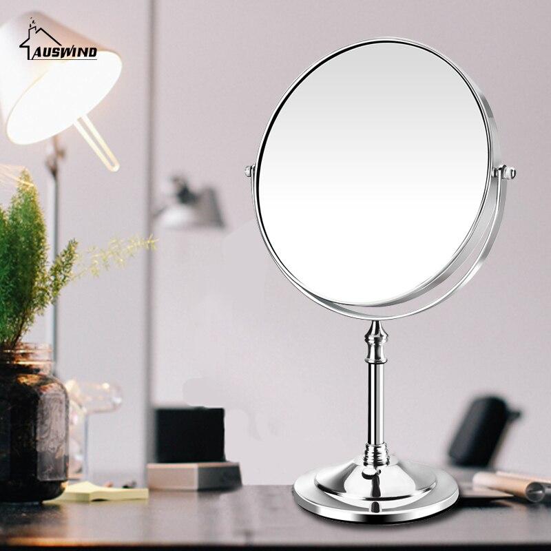 European Style New Arrival Makeup Mirror Professional Vanity Mirror Bathroom Accessories 180 Rotating Free Magnifier Sj13<br>