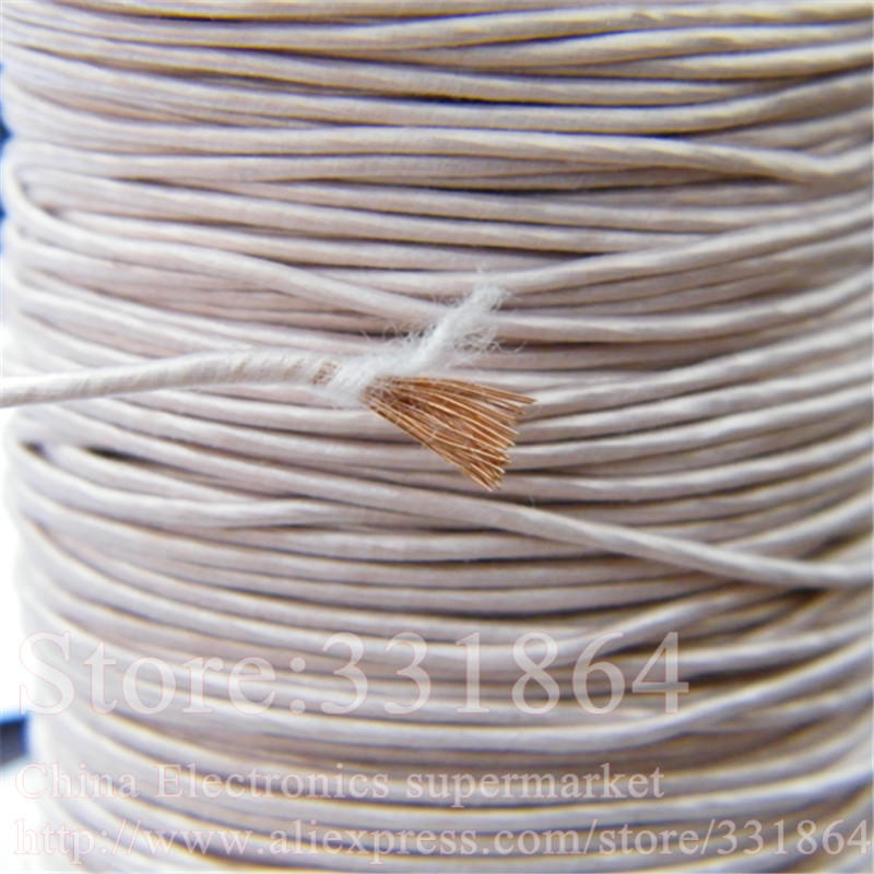 ,Multi-strand polyester silk envelope  braided multi-strand wire  3.6mm  0.1mmX700 strands,(5m /pc) Mine antenna  Litz wire<br><br>Aliexpress