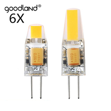 Goodland Mini G4 LED Lamp 3W 6W AC/DC 12V Dimmable COB LED G4 Bulb 360 Beam Angle Replace Halogen Lamp Chandelier Lights