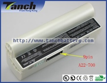 Laptop batteries for ASUS Eee PC 701 A22-700 700 A22-P701 4G 2G Surf P22-900 20G 7BOAAQ040493 900-BK010X 7.4V 9 cell