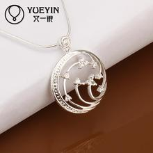 Hot marketing silver plated pendant necklace national style jewelry chain necklace jewelry gift for wife