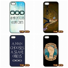 man chooses a slave obeys Plastic Black Cover Case Capa For iPhone 4 4S 5 5C SE 6 6S 7 Plus Galaxy J5 A5 A3 S5 S7 S6 Edge