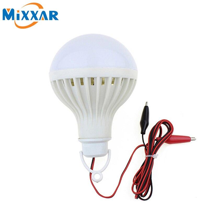 LED Portable Clip Outdoor 12V Bulb Hunting Lantern Camping Lamp Night Light