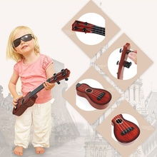4 String Acoustic Kid's Toy Guitar Hot Wisdom Development Simulation Music Toys Wood Guitar Random Color(China)