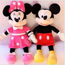 2pcs/lot 40cm New Lovely Mickey Mouse and Minnie Mouse Plush Toys Stuffed Cartoon Figure Dolls Kids Christmas Birthday gift