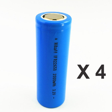 4pcs Lifepo4 3.2v IFR 22650 rechargeable lithium ion battery cell 2000MAH for Ebike camera and solar led light