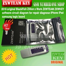 Original BlackFish Zillion x Arbeit ZXWTEAM ZXWKEY Esoftware schaltplan für reparatur diagnose iPhone iPad samsung logic board(China)