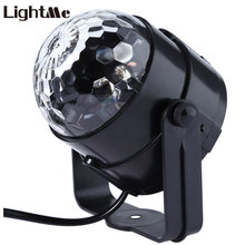 Lightme Party Disco DJ Light Holiday Projector 100-240V LED RGB Crystal Magic Ball LED Stage Effect Lights with Remote Control
