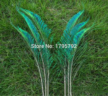 Beautiful! 50pcs 12-14 inches / 30-35cm Natural Peacock Feather Sword Symmetrical For DIY Wedding Party Decoration(China)