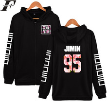 BTS Fashion BTS Design Hoodies Women Brand Zipper Black Long Sleeve Sweatshirt Hoodie Women Winter Jacket Kpop JIMIN 95 Plus