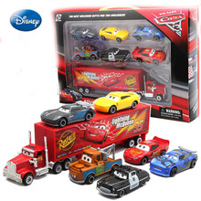 Disney Diecasts  Toy Vehicles Car mobilization Mai Dashu suit with six small car container car set alloy front child toy(China)