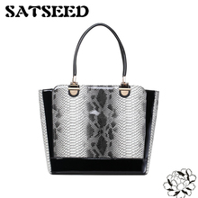 Snake Scale Fashion Handbags Korean Style 2017 New PU Totes Women Dress Bags Patent Leather Hollow Bags