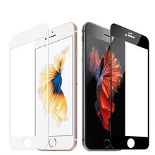 "Full Coverage Tempered Glass for iPhone 5 5s 6 6s 7 7s 6 6s plus 7 7s plus 4.7"" 5.5"" Screen Protector Guard Film Cover Case"
