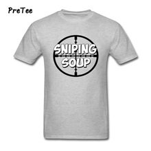sniping soup Tshirt design Male T Shirt Pure Cotton Short Sleeve O Neck Tshirt Men's Tee Shirt 2017 Modern T-shirt For Teens