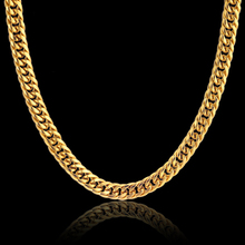 "Gold Color Stainless Steel Collar Necklace 8MM Rock Mens Gold Chain Necklace Male Chain Necklaces 20"" 23"" 26"" 28"" Collares"