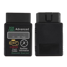 Mini ELM327 V2.1 Bluetooth HH OBD Advanced OBDII OBD2 ELM 327  Car Diagnostic Scanner code reader scan tool for Android