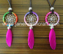 Hot! Promotional gift Shipping Free 12cs/lot Native American Dream Catcher Necklace Indian jewellry