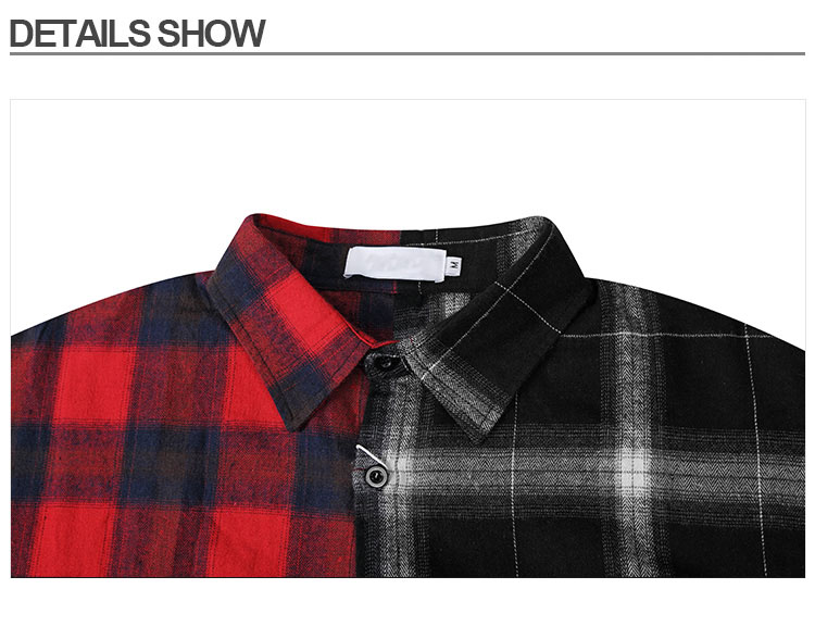 Aolamegs Shirts Men Classic Patchwork Plaid Male Shirts Thin Cotton Full Sleeve Shirt Fashion Casual Slim College Style Autumn (11)