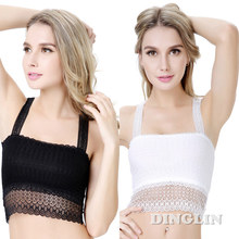GZDL Sexy Women Crochet Lace Bustier Butterfly Floral Cropped Bra Body Camisole Tube Tops Tank Corset Crop Top Chest Wrap BR5049(China)